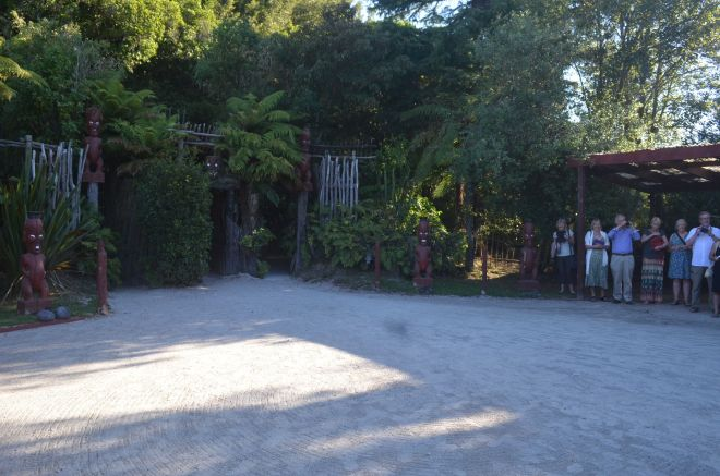 The Tamaki Village Entrance