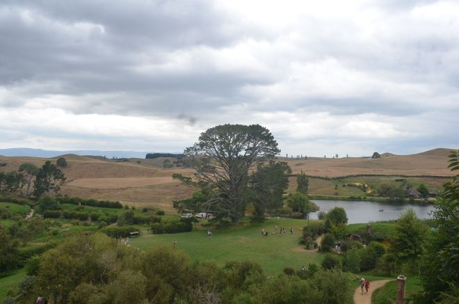 The landscape within Hobbiton