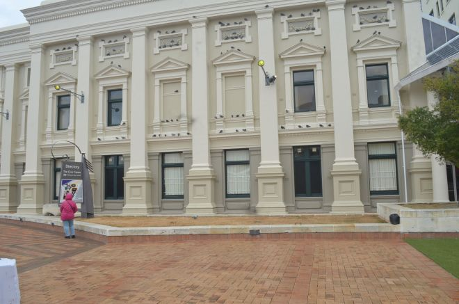 The Civic Square and Town Hall Building