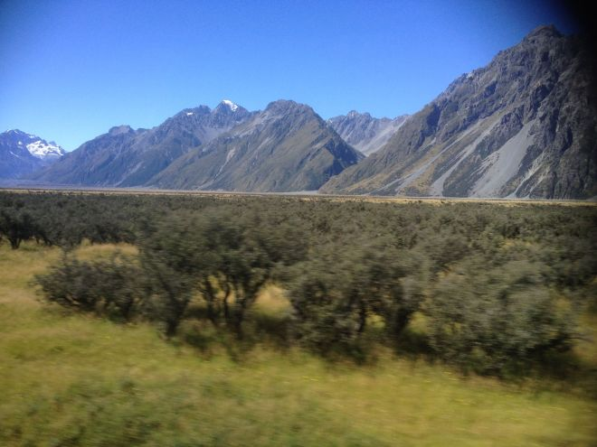 Mountainous Terrain on the way to Aoraki National Park